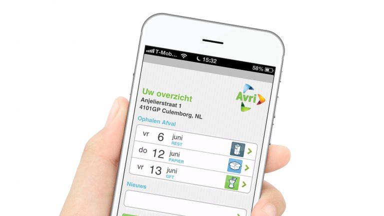 Avri-app wordt vernieuwd