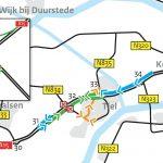 Weekendsluiting N834 viaduct Kerk-Avezaath-Tiel